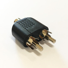 【妃凡】AV一合二音源轉接頭 / 蓮花 音視頻三通 一分二 RCA一母2公 AV轉接頭 轉換插頭 77