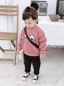 男童衛衣加絨加厚2018新款韓版休閒高領上衣嬰兒衣服3歲寶寶冬裝  嬌糖小屋