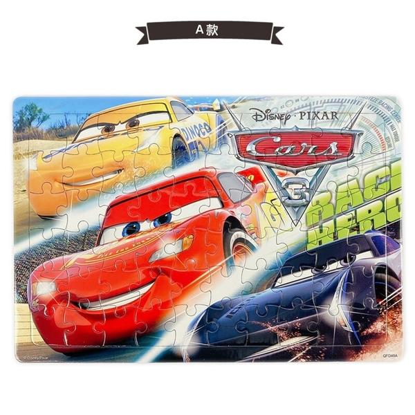 迪士尼 汽車總動員拼圖 60片拼圖 QFD40/一個入(促110) 閃電麥坤 Cars拼圖 Disney Cars 皮克斯