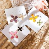 耳環 簡約 撞色 花朵 不對稱 花瓣 甜美 氣質 耳釘 耳環【DD1906096】 icoca  07/25