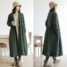 雙層裙襬式棉衣加厚棉服外套中長版過膝/設計家 F91008