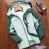 沖鋒衣女春秋薄款戶外防風防水女士工裝單層外套西藏登山服男 果果輕時尚