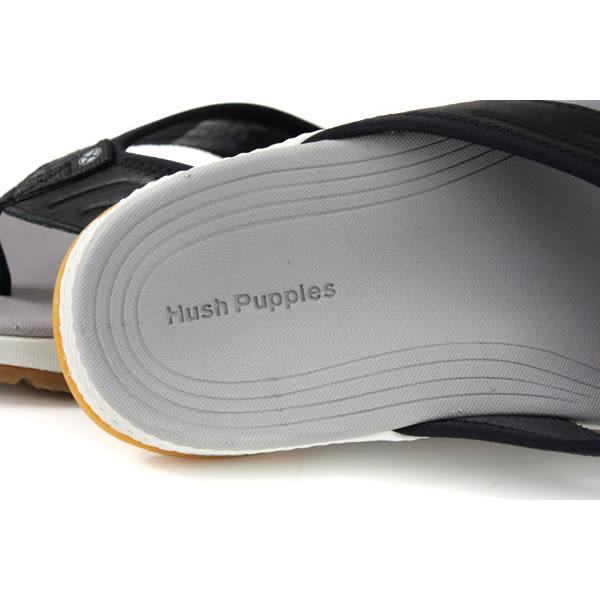 Hush Puppies  夾腳拖鞋 人字拖 黑色 牛皮 男鞋 6191M112801 no157