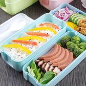 三層飯盒便當盒學生餐盒可微波爐分隔午餐盒
