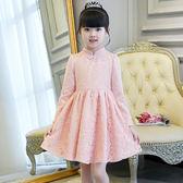 童裝女童連身裙春裝2018新款夏裝公主裙兒童長袖春秋小童洋氣裙子 桃園百貨