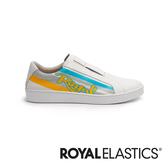 ROYAL ELASTICS Bishop Color Line 白黃藍真皮運動休閒鞋 (男) 01791-053
