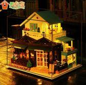 DIY小屋手工製作創意小房子建築模型益智玩具雕刻時光咖啡屋成人 免運直出 聖誕交換禮物