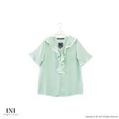 【INI】優雅有型、風采氣質輕柔上衣.綠色