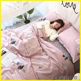 現貨  純棉四件套全棉雙人床品床包床包