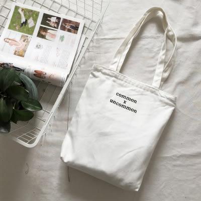 (全館一件免運)DE shop -無印良品原宿common包帆布環保購物袋兩用購物包(X-278)