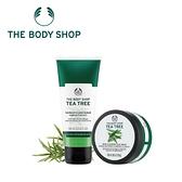 THE BODY SHOP 茶樹淨膚淨化磨砂膏-100ML+茶樹淨膚調理面膜-100ML 百貨專櫃正貨
