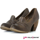個性鞋 全真皮製 鞋跟如楔形牛角 VelleMoven 特色鞋款 個性灰