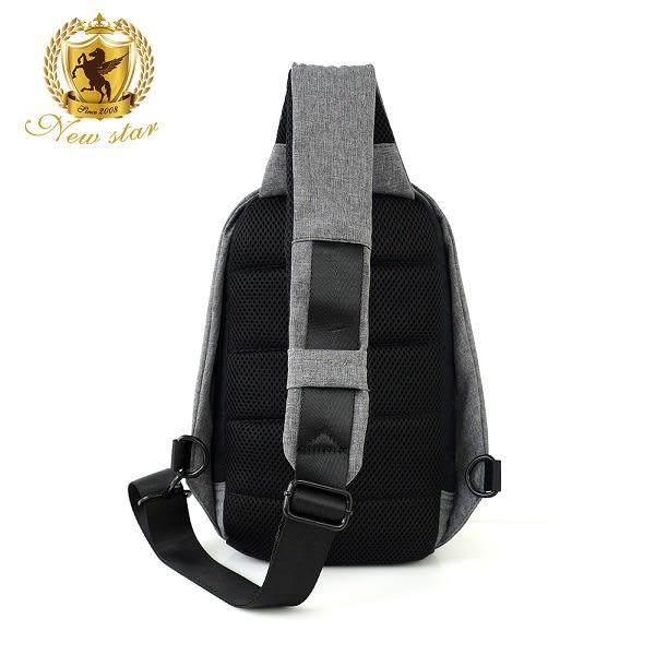 單肩背包 簡約防水前口袋斜胸包後背包防盜包包 NEW STAR BK247
