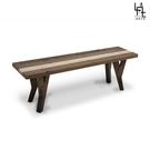 【多瓦娜】微量元素-原始工業風長板椅-D04-140