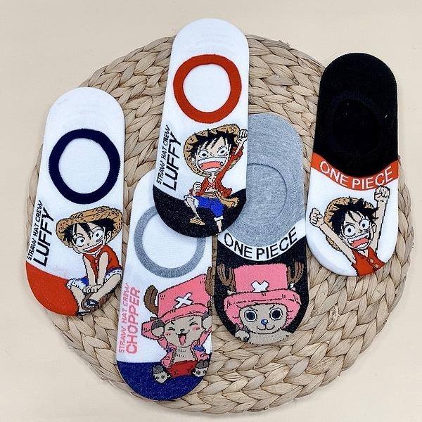 海賊王 One Piece 喬巴 魯夫 韓襪 短襪 矽膠防滑隱形襪