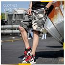 【9033】男士寬鬆休閒薄款迷彩短褲 工裝褲 美式短褲 五分褲 (2色可選/M-3XL)