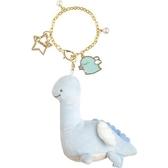 小禮堂 角落生物 恐龍 絨毛吊飾 玩偶吊飾 玩偶鑰匙圈 (藍 翅膀) 4974413-77285