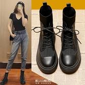 馬丁靴女英倫風年新款春秋單靴短靴秋鞋早秋款秋季襪靴子 快速出貨