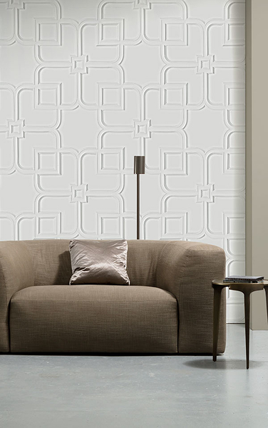 NLXL 白色木紋 立體紋ORNAMENT WALLPAPER BY PIET BOON PIB-12