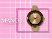 【時間道】MANGO時尚鑽石切割面腕錶 / 全玫瑰金鋼帶 (MA6297L-BN)免運費