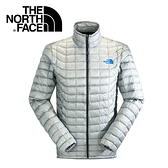 【The North Face 男 ThermoBall 暖魔球 保暖外套 灰白】 C939/暖魔球外套