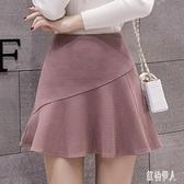 2020新款超短裙女 春夏時尚荷葉邊半身裙 氣質防走光百褶顯瘦魚尾裙 TR117『紅袖伊人』