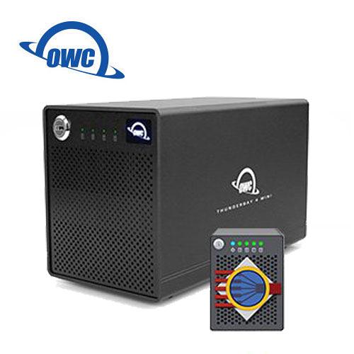 OWC ThunderBay 4 mini + SoftRAID 5 高速 Thunderbolt2 四槽 2.5 吋 硬碟 SSD 外接盒 雙Thunderbolt2 Ports (OWCTB4MSR0GB)