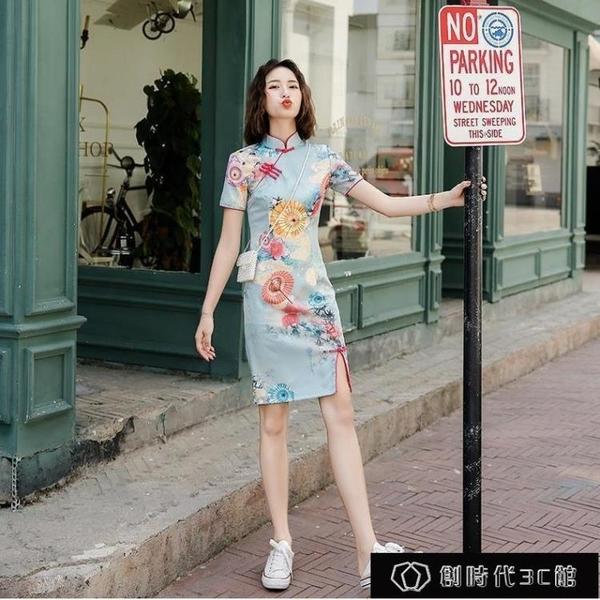 小個子旗袍年輕款復古少女民國2020年夏天新款中國風改良版連【全館免運】