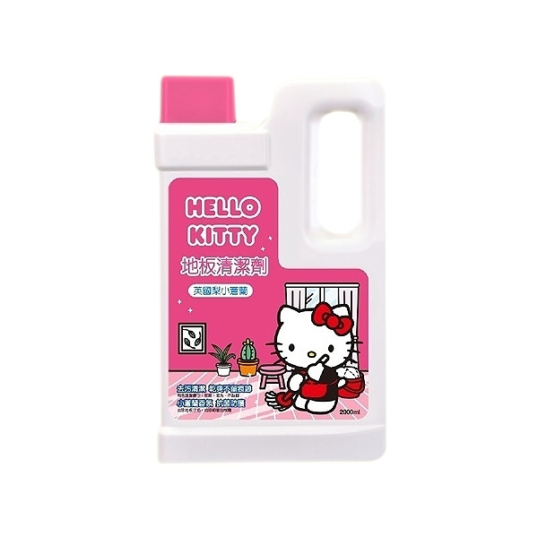 Hello Kitty 地板清潔劑(2000ml)英國梨小蒼蘭【小三美日】三麗鷗授權 ※限宅配/禁空運