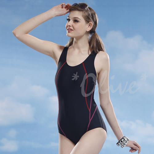 ☆小薇的店☆泳之美品牌【素雅流線款】時尚三角連身泳裝特價750元 NO.2150(M-XL)