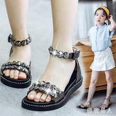 兒童女童2018新款韓版夏季公主鞋中大童時尚鞋子 XW1051【極致男人】