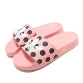 adidas 涼拖鞋 Adilette Lite W 粉紅 白 女鞋 點點 涼鞋 運動拖鞋 【ACS】 FU9149