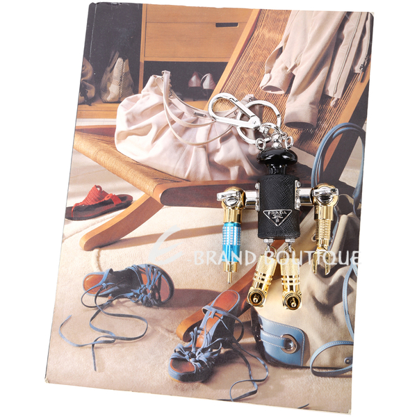 Prada Saffiano Robin 機器人吊飾/鑰匙圈 1740303-01