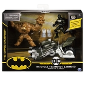 DC Batman-4吋蝙蝠俠可動人偶與摩托車 玩具反斗城