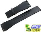 [104美國直購] 男錶 黑色皮革錶帶 Original CALVIN KLEIN Black Leather Watch Strap Band 25mm Men s New