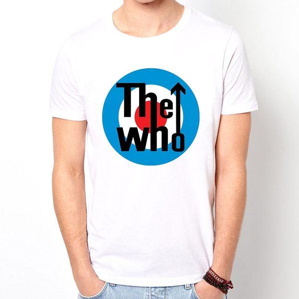 The Who target 短袖T恤-白色 誰標靶搖滾設計插畫裸女潮流情色KUSO樂團玩翻