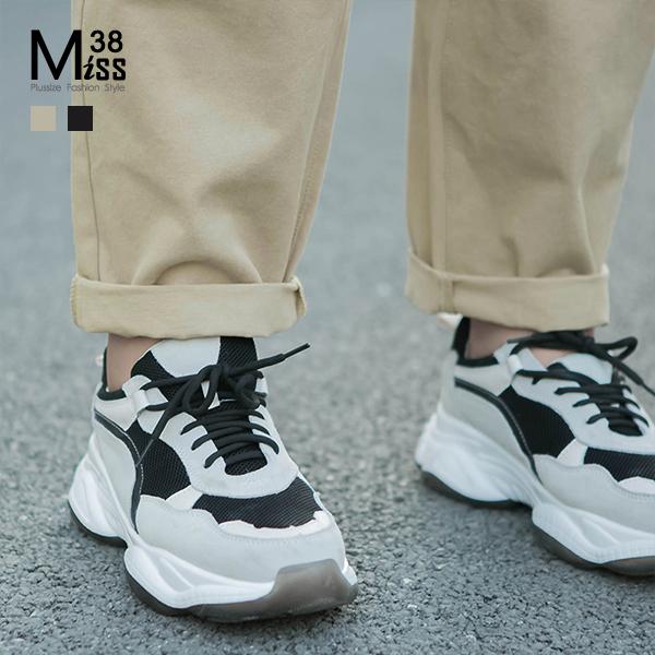Miss38-(現貨)【A09255】大尺碼休閒長褲 純色百搭 直筒工作褲 有口袋 開扣後腰鬆緊-中大尺碼女裝