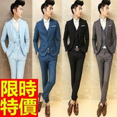 西裝套裝 包含西裝外套+褲子 男西服-制服上班族有型極簡獨一無二率性5色54o17【巴黎精品】
