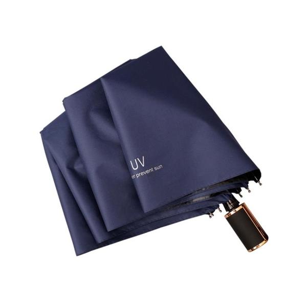 折疊雨傘 雨傘簡約全自動折疊遮陽傘防紫外線男女黑膠遮陽太陽傘晴雨【快速出貨八折搶購】