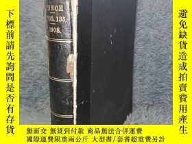 二手書博民逛書店1908年罕見PUNCH JULY-DECEMBER 海量插圖 《潘趣雜誌》 半皮裝幀 28.5CMX23CM