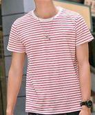 黑五好物節 男士原宿風 嘻哈條紋短袖t恤男韓版潮流純棉圓領體恤夏季寬鬆 艾尚旗艦店