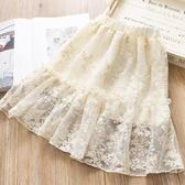 女童裙子春秋裝洋氣百褶裙蕾絲兒童半身裙夏季韓版寶寶公主網紗裙