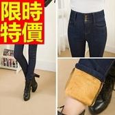 牛仔褲保暖加絨-伸縮修身顯瘦微彈力女長褲子2色63e35【巴黎精品】