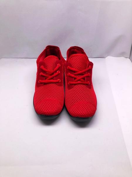 【節奏皮件】新款飛織PU氣墊軟底運動女式現代排舞鞋 排舞鞋 有氧舞導鞋 韻律鞋(型號5595)