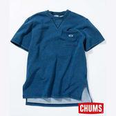 CHUMS 日本 女 Boat LOGO 短袖圓領衫 Indigo丹寧藍 CH101131N030