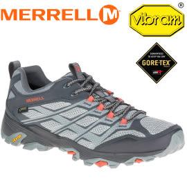 【MERRELL 美國 男款 MOAB FST GORE-TEX 防水戶外多功能健行鞋《淺灰/灰】ML37597/登山鞋/運動鞋★滿額送