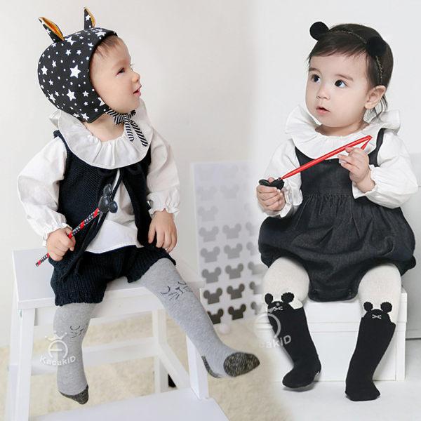 灰色貓咪.黑白老鼠可愛褲襪  S有字體防滑膠,M號沒有防滑膠  橘魔法Baby magic 兒褲襪 童裝