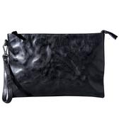真皮手拿包-大容量休閒植鞣牛皮男女錢包3色73vp37【巴黎精品】