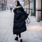 棉服女中長款寬鬆棉衣外套加厚新款韓版學生bf面包服冬季 摩可美家