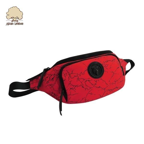 【南紡購物中心】【Sylvain Lefebvre希梵】花藝樂曲系列-豹頭個性 輕量 斜背/胸包/腰包